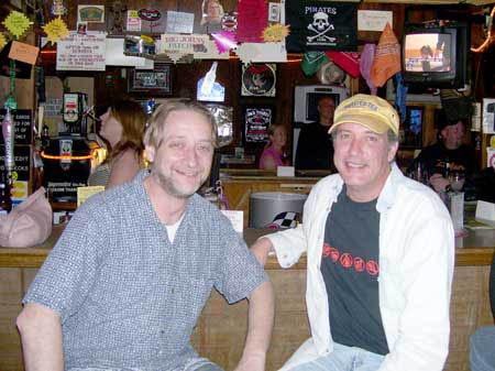 Suburband Trends entertainment reporter Darren Dean woth Johnny Keys at Bog Johns Pub